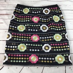 Etcetera Floral Skirt W/Embroidery. Size 4.